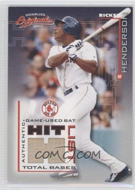 2002 Donruss Originals Hit List Jerseys [Memorabilia] #HL-11 - Rickey Henderson /285