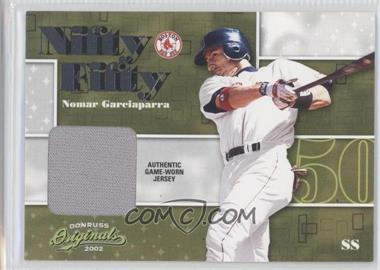2002 Donruss Originals Nifty Fifty Bats #NF-33 - Nomar Garciaparra /50
