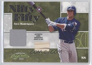 2002 Donruss Originals Nifty Fifty Combos #NF-1 - Alex Rodriguez /50