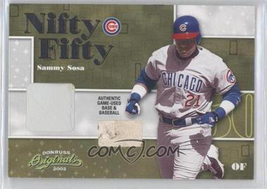 2002 Donruss Originals Nifty Fifty Combos #NF-43 - Sammy Sosa /50