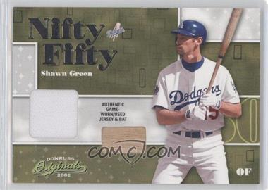 2002 Donruss Originals Nifty Fifty Combos #NF-44 - Shawn Green /50