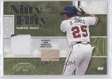 2002 Donruss Originals Nifty Fifty Combos #NF-9 - Andruw Jones /50