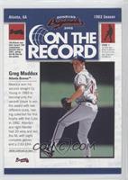 Greg Maddux /800