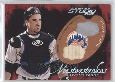 2002 Donruss Studio - Masterstrokes - Artist Proof Materials [Memorabilia] #MS-13 - Mike Piazza /200
