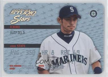 2002 Donruss Studio Stars Platinum #SS-14 - Ichiro Suzuki /50