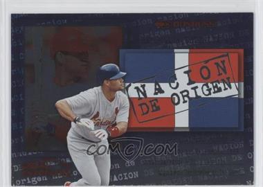 2002 Donruss Super Estrellas Nacion de Origen #N/A - Albert Pujols