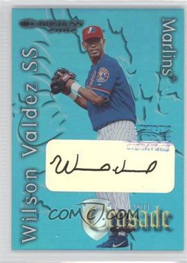 2002 Donruss The Rookies - Crusade - Autographs [Autographed] #RC-27 - Wilson Valdez /500
