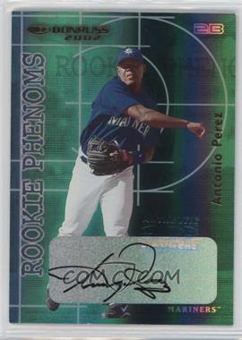 2002 Donruss The Rookies Rookie Phenoms Autographs [Autographed] #RP-6 - Antonio Perez /500