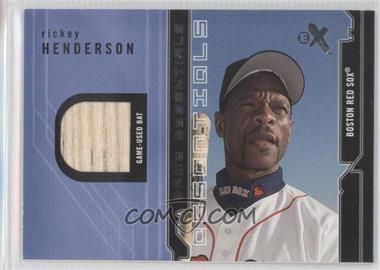 2002 E-X [???] #RIHE - Rickey Henderson