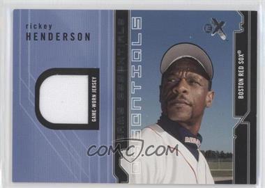 2002 E-X Game Essentials Jerseys #RIHE - Rickey Henderson