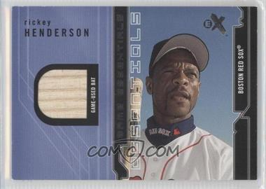 2002 E-X Game Essentials Jerseys #RIHE - Rickey Henderson