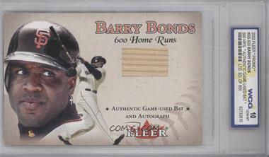 2002 Fleer Barry Bonds 600 Home Runs Promo #BB-600 - Barry Bonds [ENCASED]