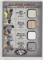 Barry Bonds, Manny Ramirez, Larry Walker, Ken Griffey Jr.