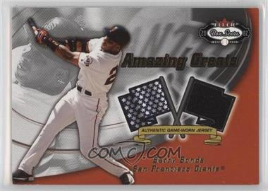 2002 Fleer Box Score Amazing Greats Single Swatch [Memorabilia] #BABO - Barry Bonds