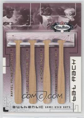 2002 Fleer Box Score Bat Rack Quads #PDTT - Rafael Palmeiro, Carlos Delgado, Jim Thome, Frank Thomas /150