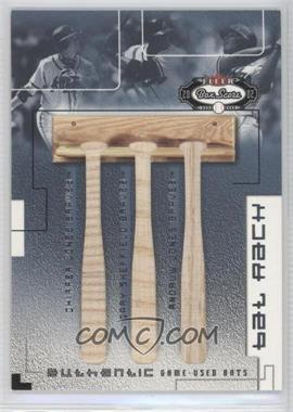 2002 Fleer Box Score Bat Rack trios #JSJ - Chipper Jones, Gary Sheffield, Andruw Jones /300