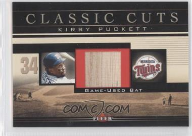 2002 Fleer Classic Cuts Game-Used Bats #KP-B - Kirby Puckett