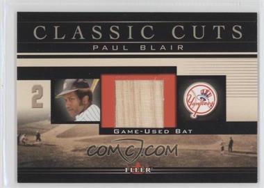 2002 Fleer Classic Cuts Game-Used Bats #PB-B - Paul Blair