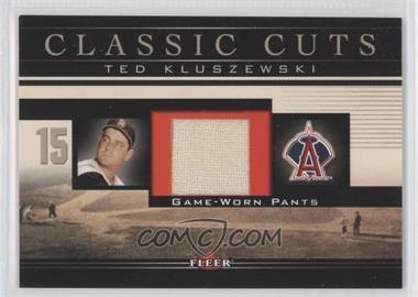 2002 Fleer Classic Cuts Game-Used Patch #TK-P-P - Ted Kluszewski