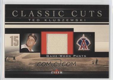 2002 Fleer Classic Cuts Game-Used Patch #TK-P-P - Ted Kluszewski