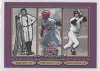 Babe Ruth, Kirby Puckett, Reggie Jackson