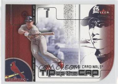 2002 Fleer Genuine - Tip of the Cap #TC 5 - J.D. Drew