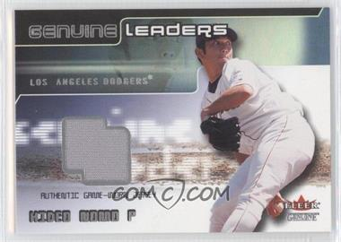 2002 Fleer Genuine Genuine Leaders Game-Worn Jerseys #N/A - Hideo Nomo