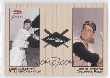 2002 Fleer Greats [???] #25DD - Enos Slaughter, Ted Kluszewski