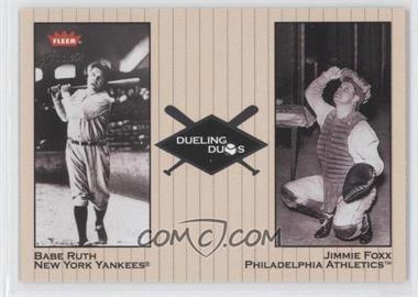 2002 Fleer Greats [???] #5DD - Babe Ruth, Jimmie Foxx