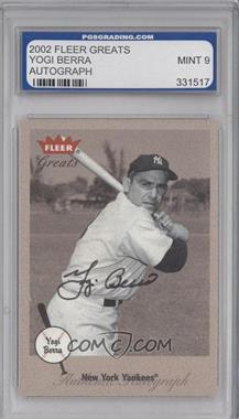 2002 Fleer Greats Autographs #N/A - Yogi Berra [ENCASED]