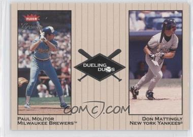 2002 Fleer Greats Dueling Duos #10 DD - Paul Molitor, Don Mattingly