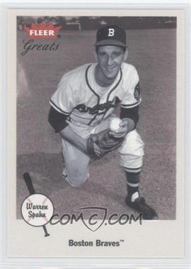 2002 Fleer Greats #52 - Warren Spahn