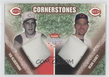 2002 Fleer Platinum Cornerstones Numbered #17 CS - Sean Casey, Ted Kluszewski /500