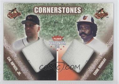 2002 Fleer Platinum Cornerstones Numbered #2 CS - Cal Ripken Jr., Eddie Murray /250