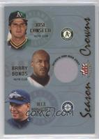 Jose Canseco, Barry Bonds, Alex Rodriguez (Barry Bonds Jersey)