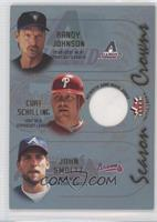 Randy Johnson, Curt Schilling, John Smoltz (Curt Schilling Jersey)