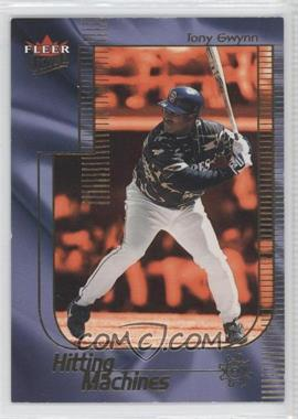 2002 Fleer Ultra Hitting Machine #8 HM - Tony Gwynn