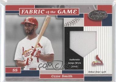 2002 Leaf Certified - Fabric of the Game - Silver Die-Cut Plate #FG 2 - Ozzie Smith /78