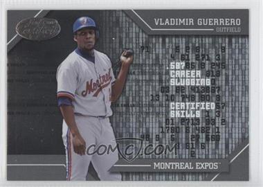 2002 Leaf Certified [???] #CS-18 - Vladimir Guerrero