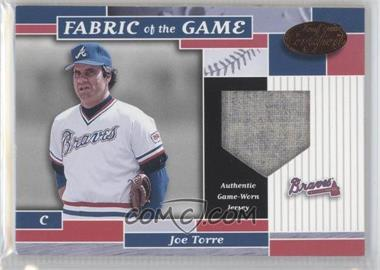 2002 Leaf Certified Fabric of the Game Bronze Die-Cut Plate #FG 32 - Joe Torre /50