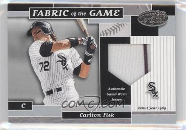 2002 Leaf Certified Fabric of the Game Silver Die-Cut Plate #FG 106 - Carlton Fisk /69