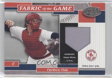 2002 Leaf Certified Fabric of the Game Silver Die-Cut Plate #FG 50 - Carlton Fisk /69