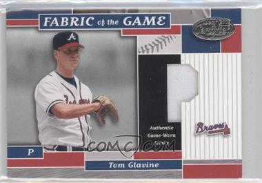 2002 Leaf Certified Fabric of the Game Silver Die-Cut Position #FG 148 - Tom Glavine /50