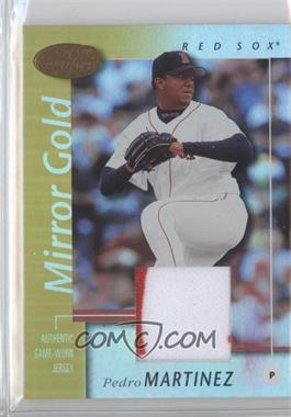 2002 Leaf Certified Mirror Gold Materials [Memorabilia] #98 - Pedro Martinez /25