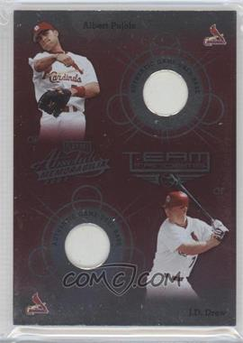 2002 Playoff Absolute Memorabilia Team Tandems Materials [Memorabilia] #TT-28 - Albert Pujols, J.D. Drew