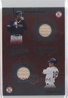2002 Playoff Absolute Memorabilia Team Tandems Materials [Memorabilia] #TT-35 - Rickey Henderson, Johnny Damon