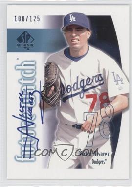2002 SP Authentic - [Base] - Limited #145 - Victor Alvarez /125