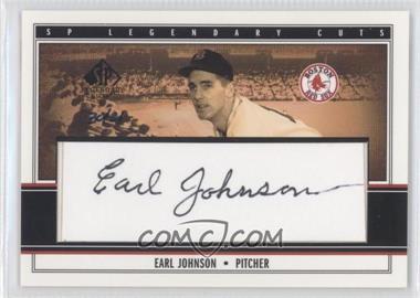 2002 SP Legendary Cuts [???] #N/A - Earl Johnson