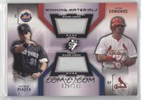Jim Edmonds, Mike Piazza /200