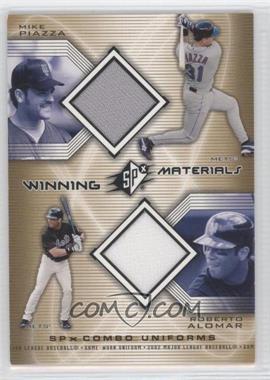 2002 SPx Winning Materials Combo Jerseys #WM-PA - Roberto Alomar, Mike Piazza